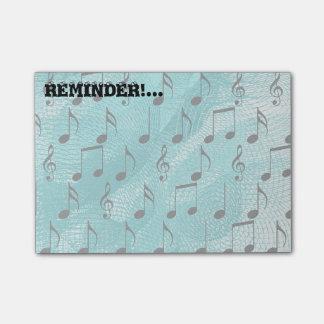 Notas da música bloco de notas