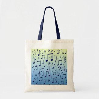 Notas da música bolsas de lona