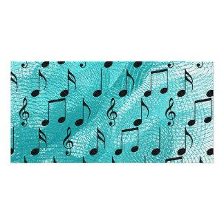 Notas da música cartão com foto