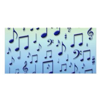 Notas da música cartão com fotos