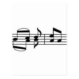 Notas da música cartão postal