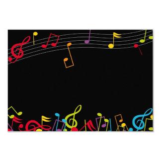 notas da música convite 8.89 x 12.7cm