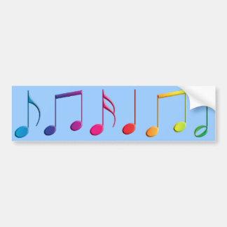 Notas da música do arco-íris adesivo para carro