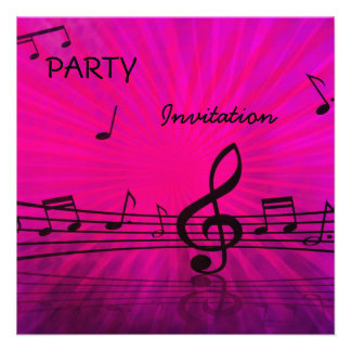 Notas da música do rosa do partido do convite