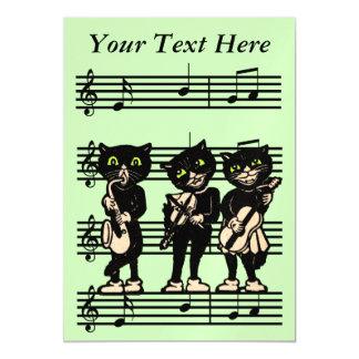 Notas da música dos gatos pretos do músico do