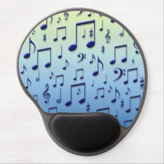 Notas da música mousepads de gel