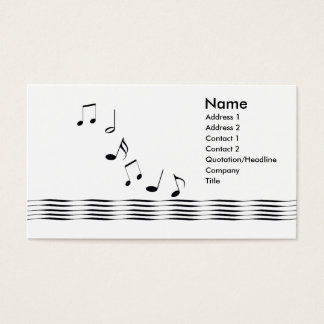 Notas da música - negócio cartão de visitas