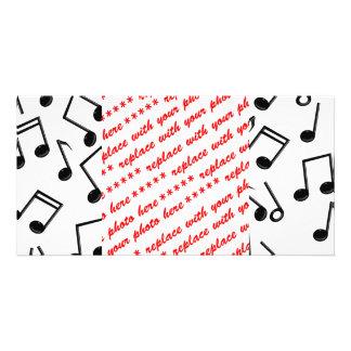 Notas da música no vazio (adicione a cor do fundo) cartão com foto