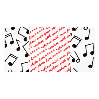 Notas da música no vazio (adicione a cor do fundo) cartao com fotos personalizado