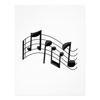 Notas da música papéis de carta personalizados