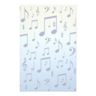Notas da música papelaria