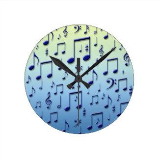 Notas da música relógios para pendurar