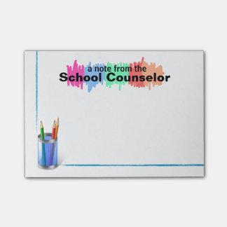 Notas de coloridas do conselheiro da bloquinho de notas