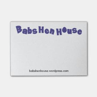 Notas de post-it pequenas de BabsHenHouse Post-it Note