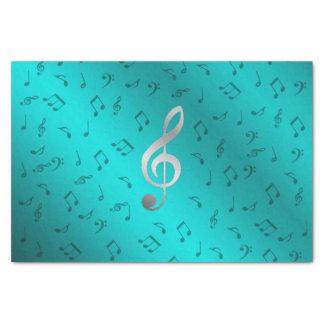 notas de prata da música papel de seda