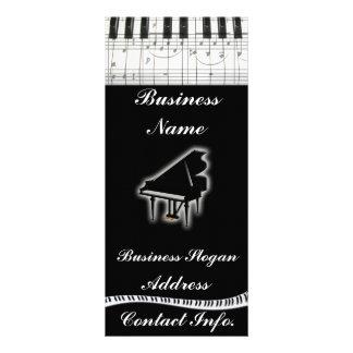 Notas do teclado e da música de piano 10.16 x 22.86cm panfleto