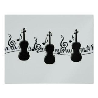 Notas do teclado e da música de piano do violino convites personalizados