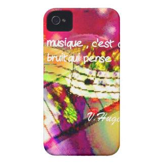 Notas e citações da música capa para iPhone 4 Case-Mate