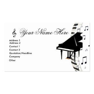 Notas e G-Clef da música de Keyboardn do piano de  Cartão De Visita
