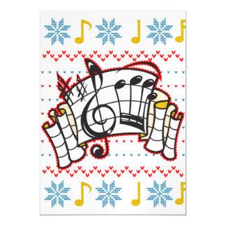 Notas feias da música da camisola do Natal