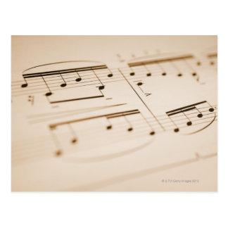 Notas musicais 2 cartão postal