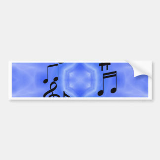 Notas musicais adesivo para carro