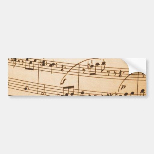 Notas musicais adesivo