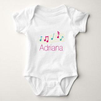 Notas musicais body para bebê