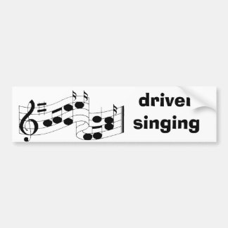 notas musicais, canto do motorista adesivo