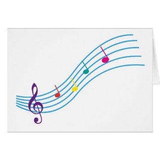 Notas musicais cartoes