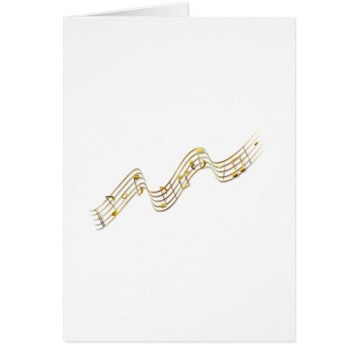 Notas musicais cartao