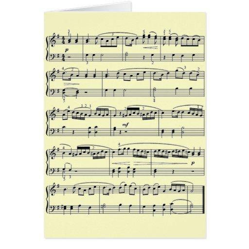 notas musicais cartões
