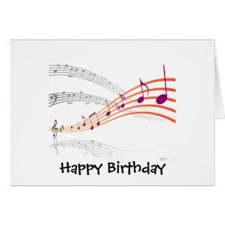 Notas musicais cartão comemorativo