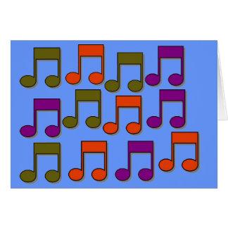 Notas musicais cartão