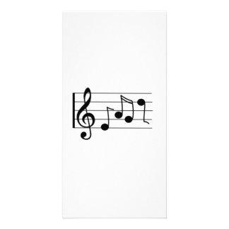 Notas musicais cartão com foto