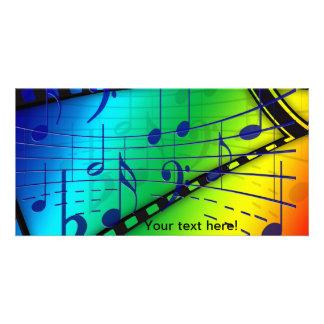 Notas musicais cartoes com fotos personalizados
