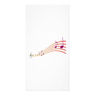 Notas musicais cartão com fotos