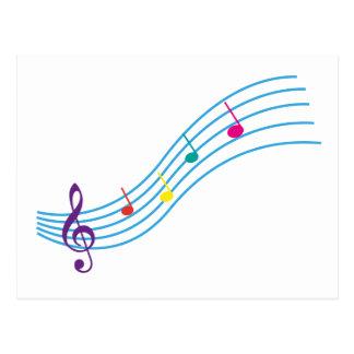 Notas musicais cartão postal