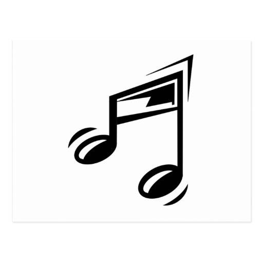 Notas musicais cartao postal