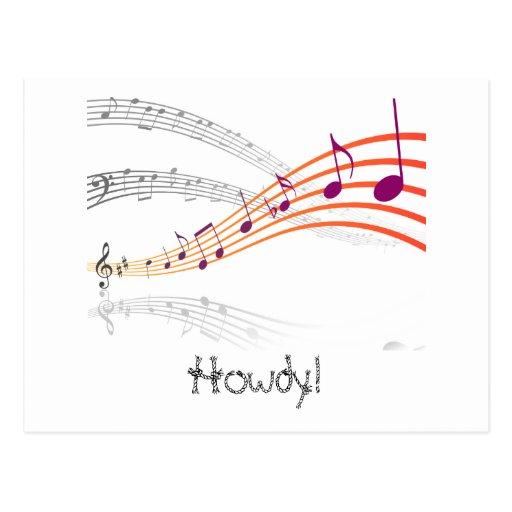 Notas musicais cartões postais