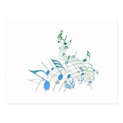 Notas musicais cartoes postais
