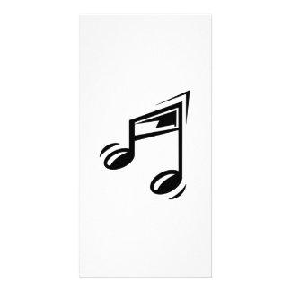 Notas musicais cartões com fotos personalizados