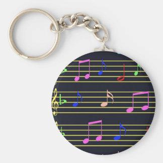 Notas musicais chaveiro