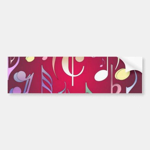Notas musicais coloridas adesivos