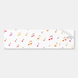 Notas musicais coloridas: adesivo