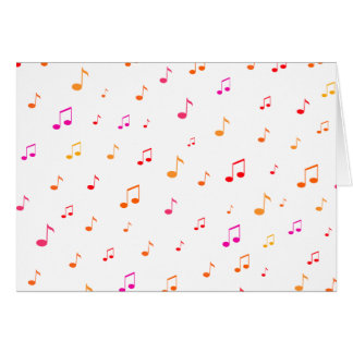 Notas musicais coloridas: cartao