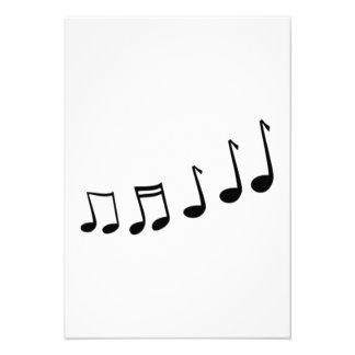 Notas musicais convite