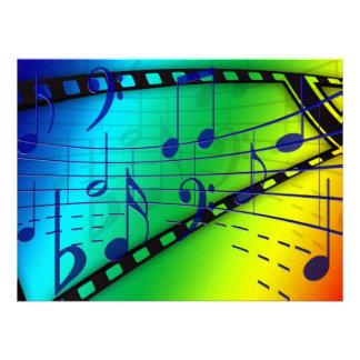 Notas musicais convites personalizados