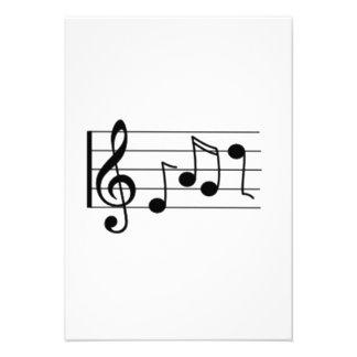 Notas musicais convite personalizados