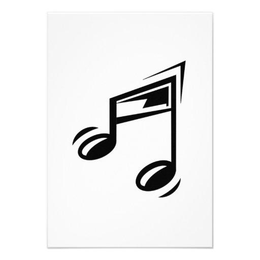 Notas musicais convite personalizado